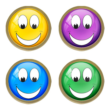Smiley Face & Novelty Badges