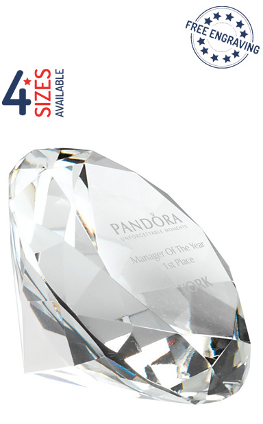 Glass Diamond Paperweight - DIA