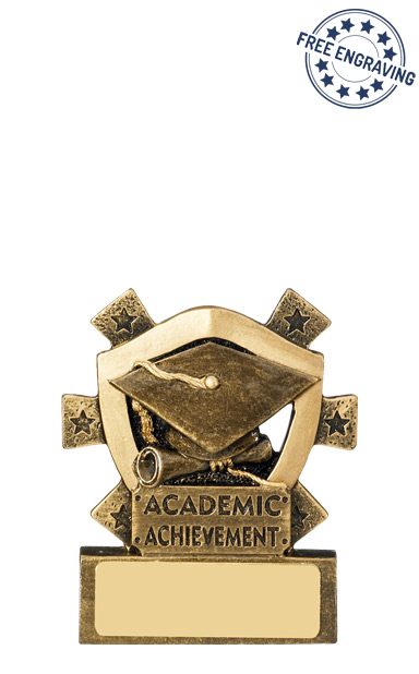 Mini Shield - Academic Achievement Resin Trophy- RM633-GW