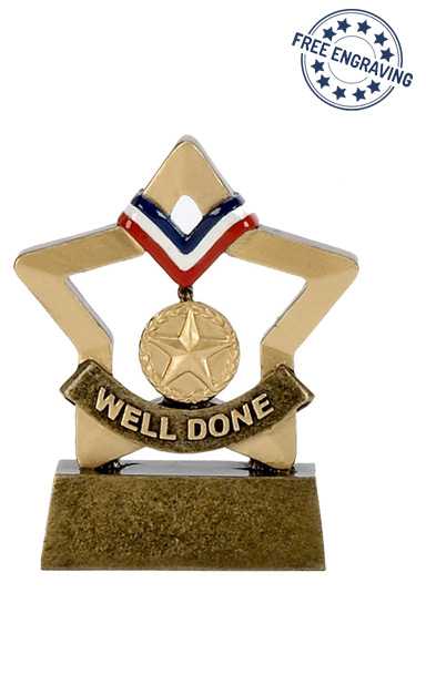 Mini Star - Well Done Trophy - A1103