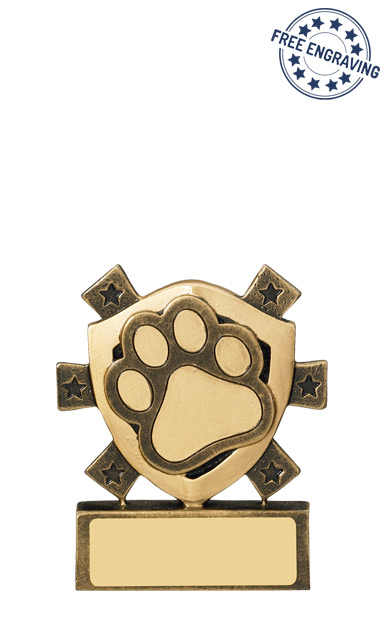 Mini Shield Pets Resin Trophy - RM653