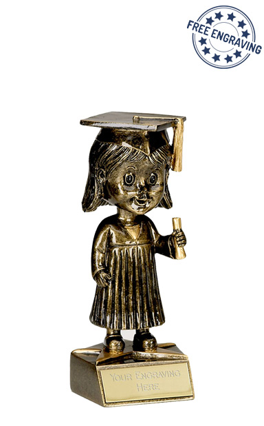 Bobblehead Female Graduation Award - A1163