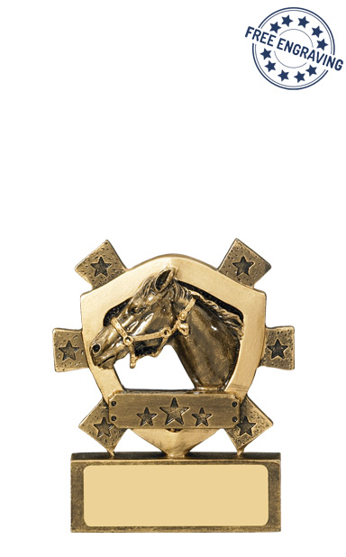 Equestrian Mini Shield Resin Trophy - RM591