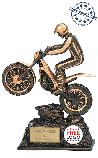 Trials Bike Resin Trophy- A379