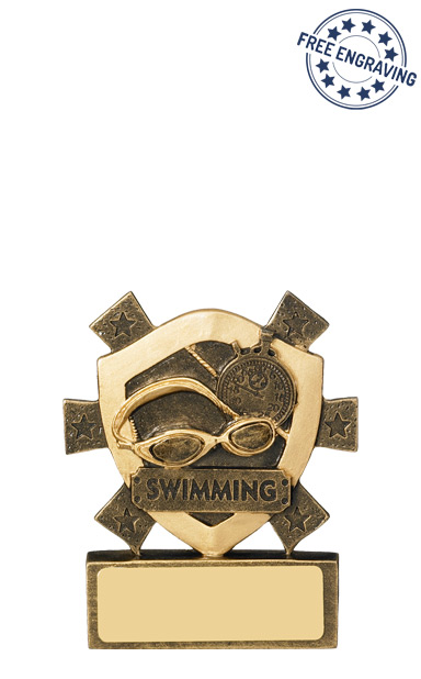 Mini Shield Swimming Resin Trophy - RM701