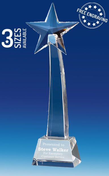 RECOGNITION STAR CRYSTAL GLASS AWARD - Presentation Box - KK004