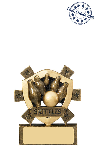 Mini Shield Skittles Resin Trophy - RM587