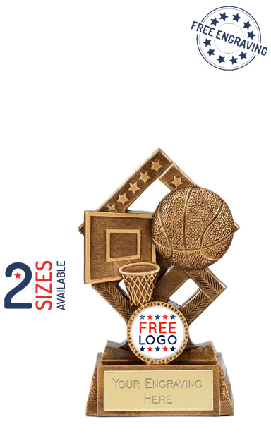 Basketball Cube Resin Trophy - A4138