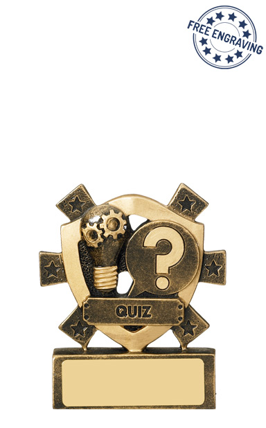 Mini Shield Quiz Resin Trophy - RM675
