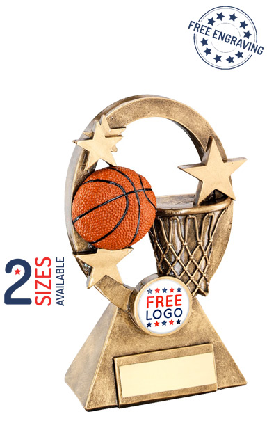 Basketball Oval Stars Series Resin Trophy- RF739