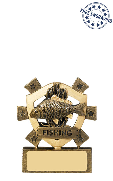 Mini Shield Fishing Resin Trophy- RM623