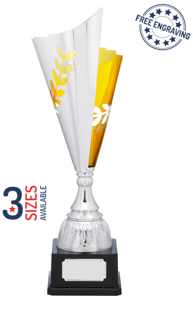 Super Silver & Gold Arrow Presentation Trophy - A1152