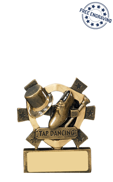 Mini Shield Tap Dancing Resin Trophy - RM595