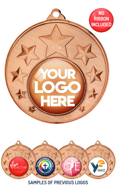 PERSONALISED M33 BRONZE YOUR DANCE LOGO MEDAL - 89p or Less
