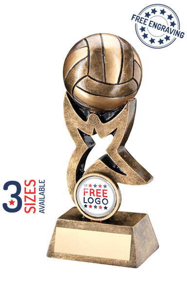 VOLLEYBALL STAR RISER - RESIN TROPHY - RF262