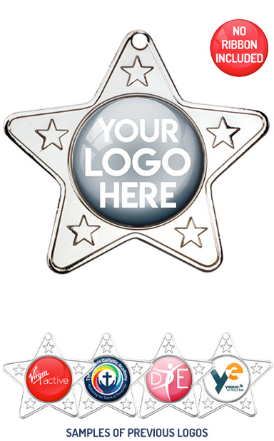 PERSONALISED M10 SILVER YOUR DANCE LOGO MEDAL - 89p or Less