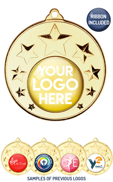PERSONALISED M33 GOLD YOUR DANCE LOGO MEDAL - 99p or Less