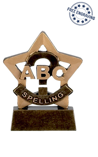Mini Star - Spelling Trophy - A947
