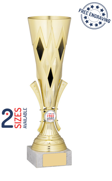 Gold Funnel Trophy Cup-  A1021
