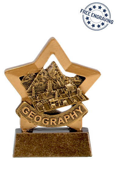 Mini Star - Geography Trophy - A1669