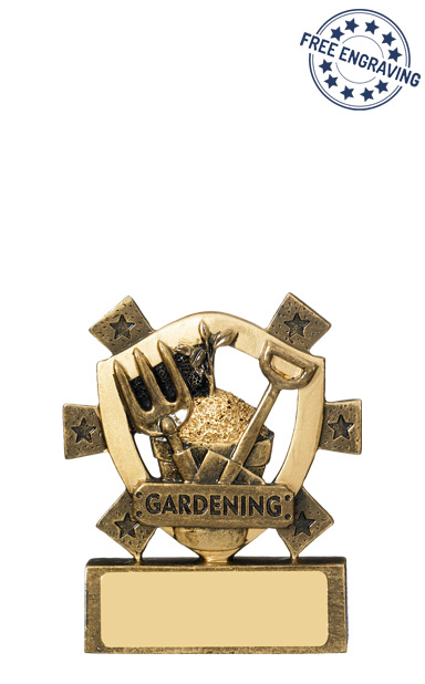 Mini Shield - Gardening Resin Trophy - RM565-GW