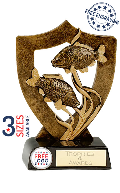 Celebration Shield Fishing Resin Trophy- A343