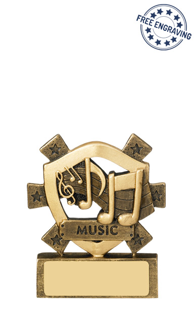 Mini Shield Music Resin Trophy - RM593