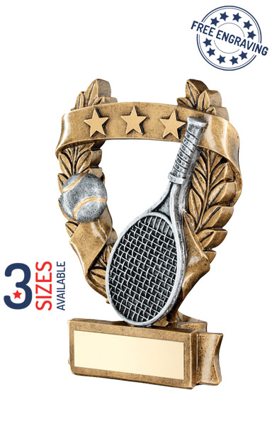 TENNIS STAR WREATH - RESIN TROPHY - RF488