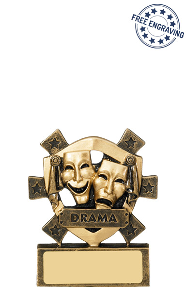 Mini Shield Drama Resin Trophy - RM661