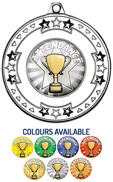 Silver Attendance Medal- M69S - Includes Free Ribbon
