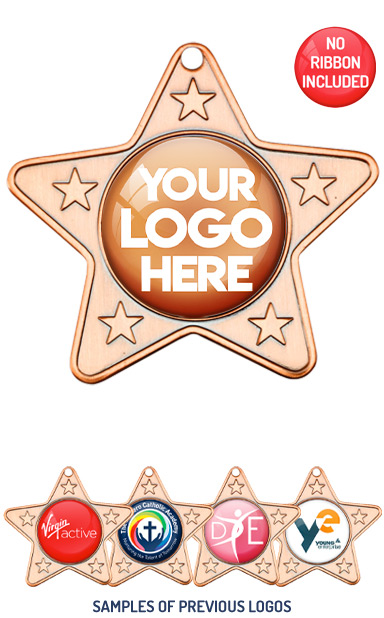 PERSONALISED M10 BRONZE YOUR DANCE LOGO MEDAL - 89p or Less