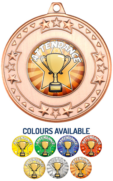 Bronze Attendance Medal- M69B - Includes Free Ribbon