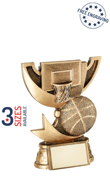 Basketball Gold Cup Resin Trophy - RF789