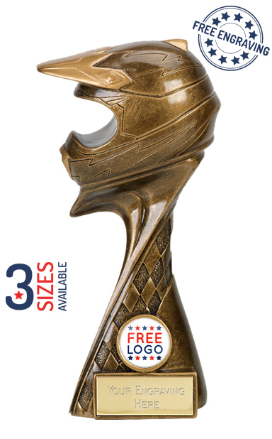 Defender Helmet Resin Trophy- A4025