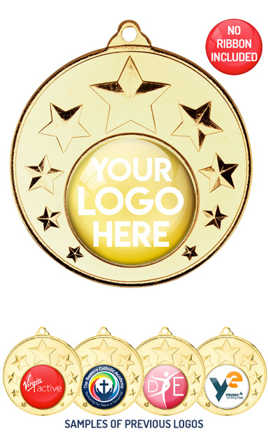 PERSONALISED M33 GOLD YOUR DANCE LOGO MEDAL - 89p or Less