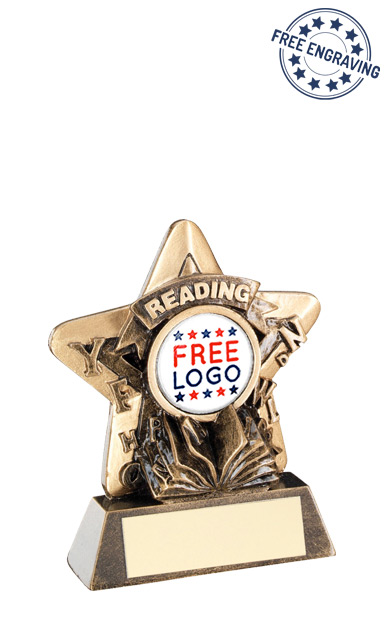 School Reading Mini Star Resin Award- RF408