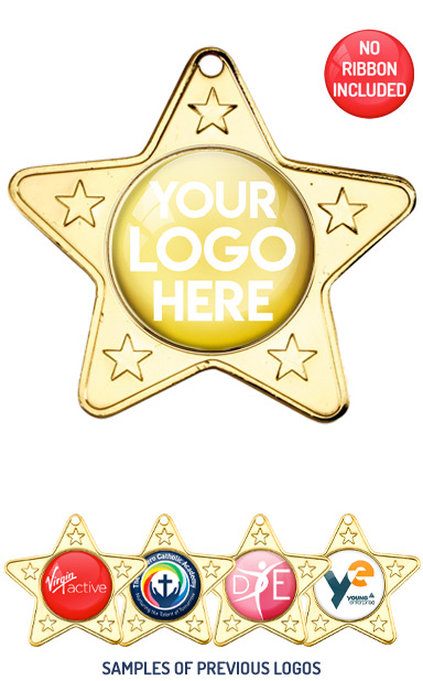 PERSONALISED M10 GOLD YOUR DANCE LOGO MEDAL - 89p or Less