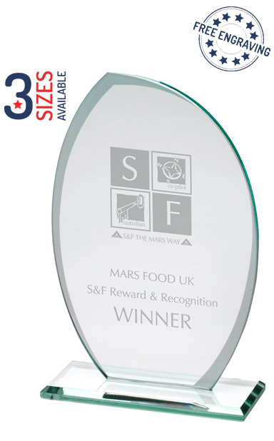 CURVED GLASS PLAQUE AWARD - TP08