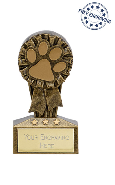 Micro Series - Dog / Cat Paw Trophy - A1734