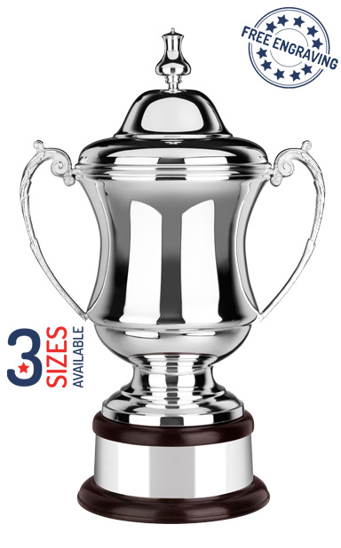 Silver Plated The Conquerors Challenge Cup- Plain - L656