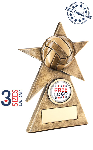 VOLLEYBALL STAR BALL - RESIN TROPHY - RF232