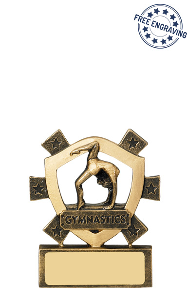 Mini Shield Female Gymnastics Resin Trophy - RM663