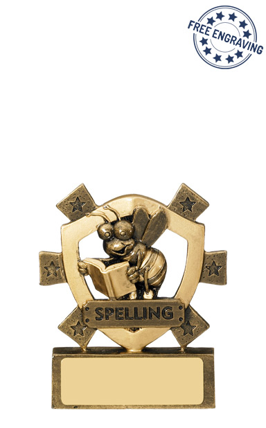 Mini Shield Spelling Resin Trophy - RM635