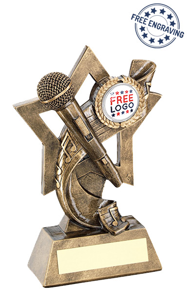 Music Star Backdrop Resin Trophy - RF681