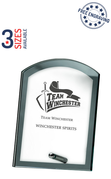 MIRRORED GLASS AWARD - 8mm thickness - Chrome Stand - GP30