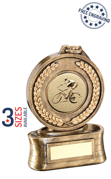 Gold Medal Cycling Resin Trophy- JR47-RF13