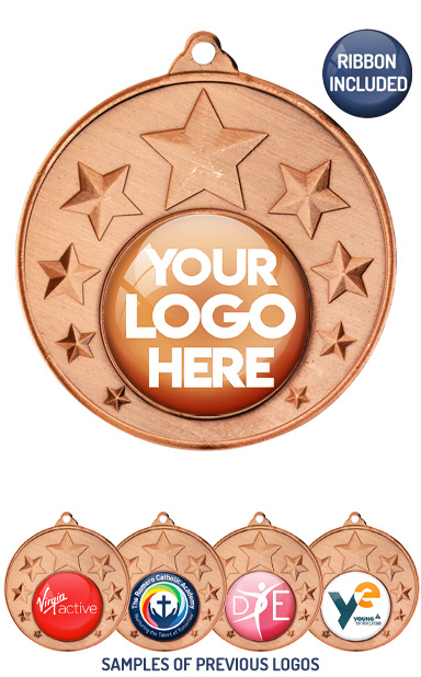 PERSONALISED M33 BRONZE YOUR DANCE LOGO MEDAL - 99p or Less