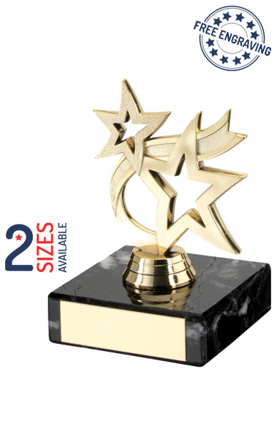 Gold Dancing Star Trophy on a Marble Base - TY52
