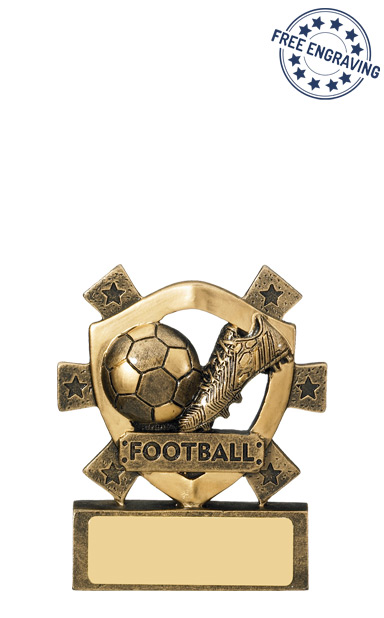 Mini Shield - Football Resin Trophy - RF347-GW