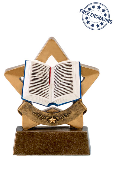 Mini Star - Book Trophy - A1633